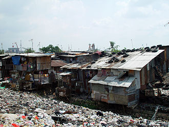 Shanty town - A shanty town in Jakarta, Indonesia