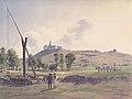 Jakob Alt - Burg Lublau mit dem Tatragebirge in der Zips - 1839.jpeg
