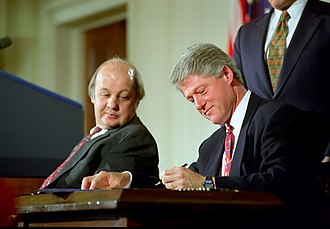 Gun control policy of the Bill Clinton administration - President Clinton signs the Brady Bill