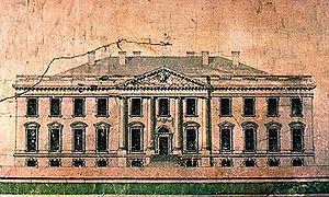 James Hoban - Hoban's amended elevation of the White House (late-1793 or early-1794).