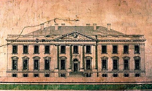 James Hoban White House Progress Drawing