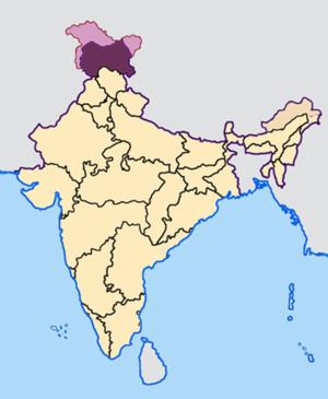 Indian general election, 2009 (Jammu and Kashmir) - Image: Jammu and Kashmir in India