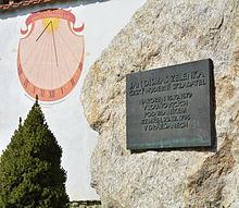 Jan Dismas Zelenka memorial and sundial LPB.jpg