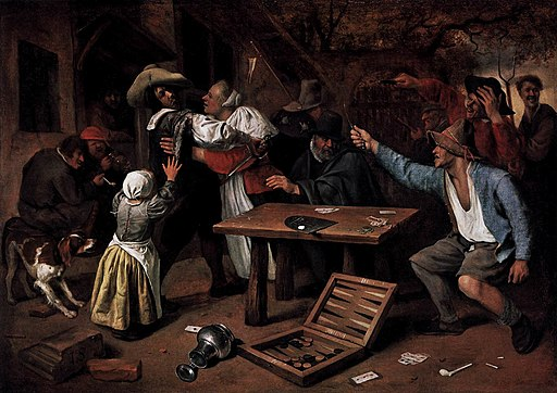 Jan Steen - Argument over a Card Game - WGA21735