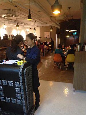 Old industrial buildings revitalisation in Hong Kong - Japanese restaurant