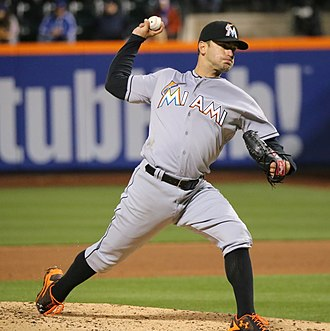 Jarred Cosart - Cosart with the Miami Marlins