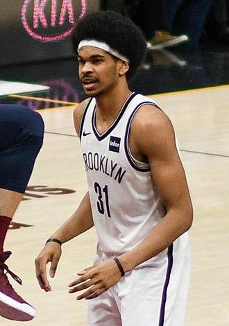Jarrett Allen - Allen with Brooklyn in 2018