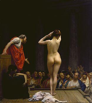 Jean-Léon Gérôme - A Roman Slave Market - Walters 37885.jpg