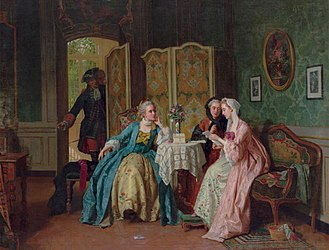 Jean Carolus, 1866, The Letter, oil on canvas, 81.2 x 105.4 cm, public collection.jpg