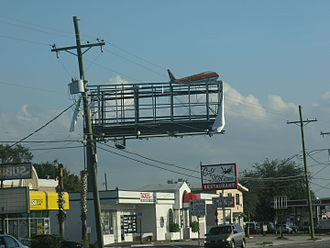 Hurricane Jeanne - Damaged signs in Orlando, Florida caused by Jeanne.
