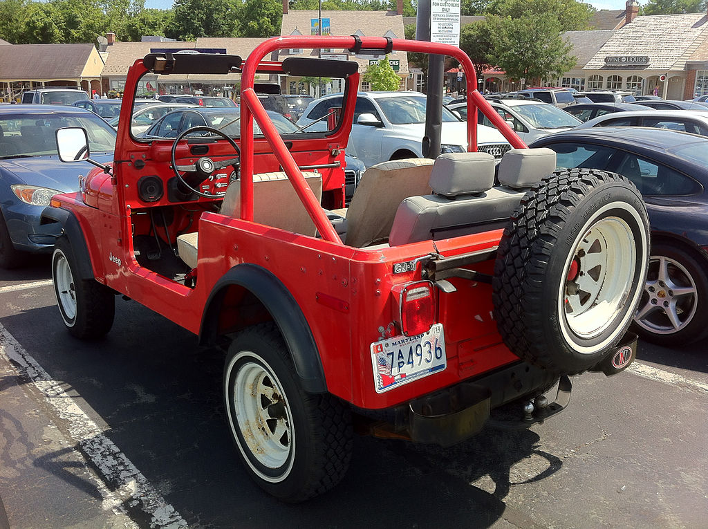Jeep After Market >> File:Jeep CJ-7 red open Potomac Maryland 3.jpg - Wikimedia Commons
