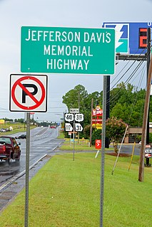 Jefferson Davis Highway historic long-distance highway in the United States