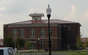 Jeffersonville Quartermaster Depot - New Jeffersonville City Hall within the Quadrangle.