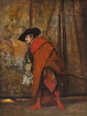 Polonius - Polonius behind the curtain by Jehan Georges Vibert, 1868