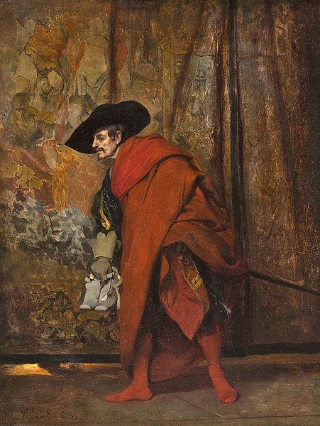 File:Jehan-Georges Vibert - Polonius behind the curtain.jpg
