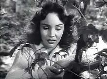 L'actriz estatounitense Jennifer Jones en una scena d'a cinta Love Letters (1945).