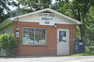 Jeremiah, Kentucky - Post office on Kentucky Route 7