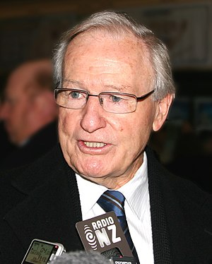 Jim Bolger - Jim Bolger at a foundation of KiwiRail press conference, July 2008