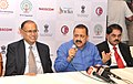 Jitendra Singh addressing a press conference, at the 20th National Conference on e-Governance, in Visakhapatnam, Andhra Pradesh.jpg