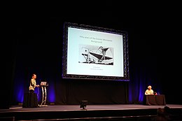 Jo Dunkley delivers plenary lecture (19566551321).jpg