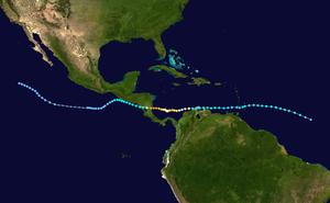Hurricane Joan–Miriam - Image: Joan Miriam 1988 track