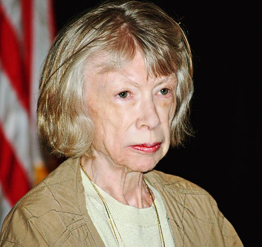Joan Didion at the Brooklyn Book Festival.