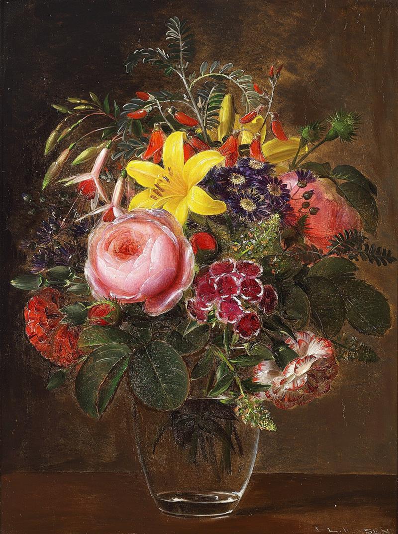 Johan Laurentz Jensen - Broget blomsterbuket i et glas.png