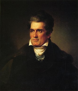Abbeville County, South Carolina - Portrait of John C. Calhoun, famous politician from Abbeville County.