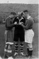John Harris (left) and Mikhail Semichastny 13 November 1945 Stamford Bridge Chelsea F.C - FC Dynamo Moscow.png