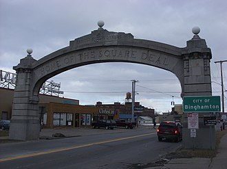 Johnson City Square Deal Arch - Johnson City Square Deal Arch, February 2009
