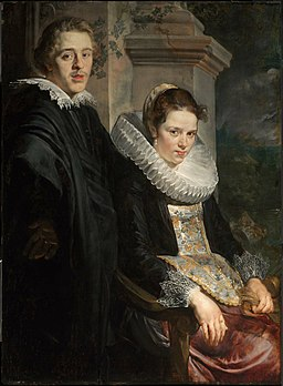 Jordaens Portrait of a Young Married Couple