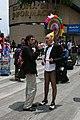 """José Antonio Cordero """"Pepe Lamb"""" siendo entrevistado durante la Marcha del Orgullo Gay de la Ciudad de México, Junio de 2011.jpg"""