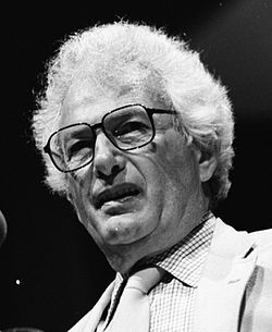 Joseph Heller na Miami Bookfair International v roce 1986