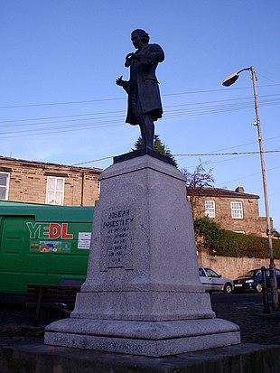 The Joseph Priestley Statue at Birstall Market Place