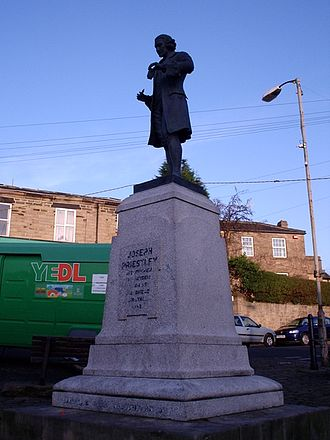 Birstall, West Yorkshire - Image: Joseph priestly statue