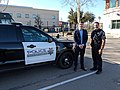Josh Harder with Tracy police officer.jpg