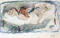 Jules Pascin - Quatre personnes sur un lit, 1905.png