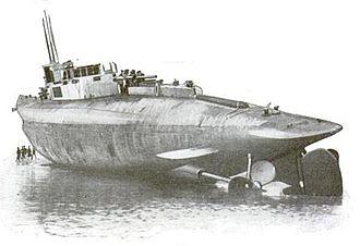 British K-class submarine - HMS K4 aground on Walney Island