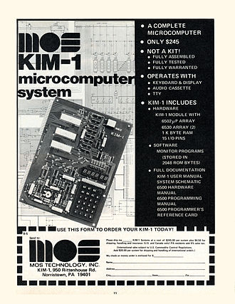 KIM-1 - The introductory advertisement for the KIM-1 microcomputer, May 1976