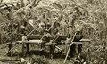 KITLV - 78481 - Kleingrothe, C.J. - Medan - Karo Batak women in the rice pounding on the east coast of Sumatra - circa 1905.tif