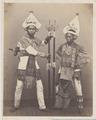 KITLV 4397 - Isidore van Kinsbergen - Flag dancers (baris toenggoel) of Boeleleng - 1865.tif