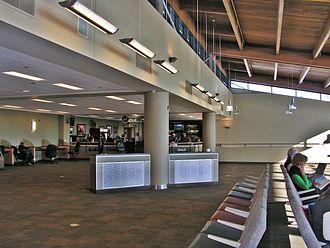 Roberts Field - Redmond, Oregon passenger terminal, upper deck restaurant area