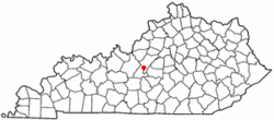 Location of New Haven, Kentucky