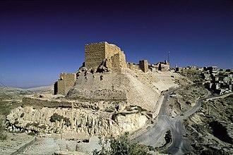 Raynald of Châtillon - Kerak Castle, a major fortress in the Lordship of Oultrejordain (at present-day Al-Karak in Jordan)