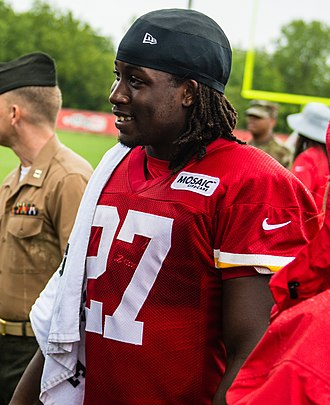 Kareem Hunt - Hunt with the Kansas City Chiefs in 2018