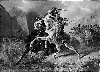 Anno 1591. Tweestrijd tussen Rijhove en een Spaanse krijgsman