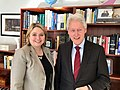 Karen Bradley MP stops in to see President Clinton at the Clinton Foundation in New York (40806662552).jpg