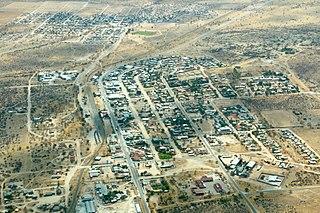 Karibib Town in Erongo Region, Namibia