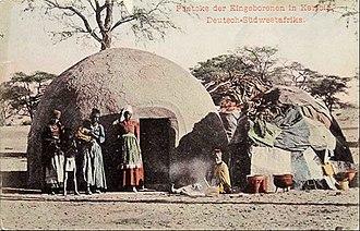 Karibib - Karibib, Pontok - traditional house, at the end of the 19th century