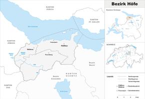 Map of district Höfe